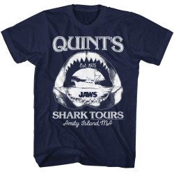 1fec1485 Jaws Quints Shark Tours Amity Island Maine T-Shirt - NerdKungFu