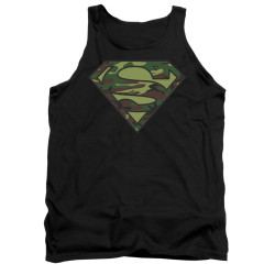 Image for Superman Tank Top - Camo Logo