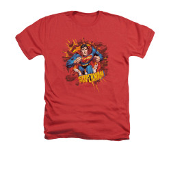 Image for Superman Heather T-Shirt - Sorry About The Wall