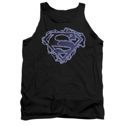 Image for Superman Tank Top - Electric Supes Shield
