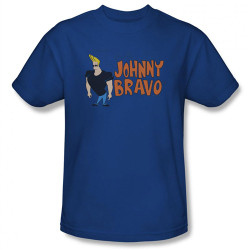 Image Closeup for Johnny Bravo Logo T-Shirt CN116-AT