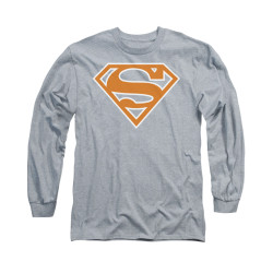Image for Superman Long Sleeve Shirt - Burnt Orange&white Shield