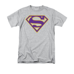 Image for Superman T-Shirt - Purple & Gold Shield
