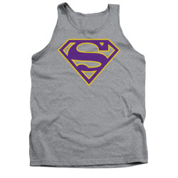 Image for Superman Tank Top - Purple & Gold Shield