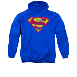 Image for Superman Hoodie - Classic Logo Distressed