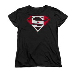 Image for Superman Womans T-Shirt - Canadian Shield