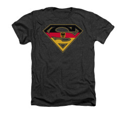 Image for Superman Heather T-Shirt - German Shield