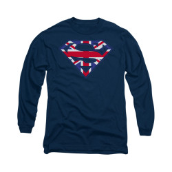 Image for Superman Long Sleeve Shirt - Great Britian Shield