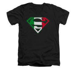 Image for Superman V Neck T-Shirt - Italian Shield