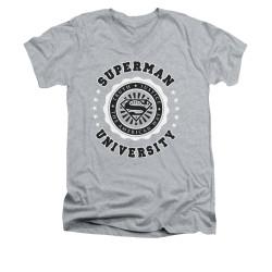Image for Superman V Neck T-Shirt - Superman University