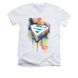 Image for Superman V Neck T-Shirt - Urban Shields