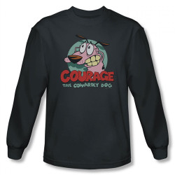 Image for Courage the Cowardly Dog Courage Long Sleeve T-Shirt