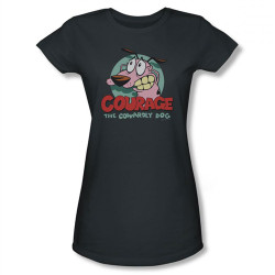 Image for Courage the Cowardly Dog Courage Girls Shirt