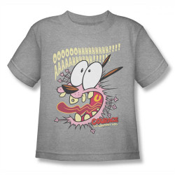 Image for Courage the Cowardly Dog Scaredy Dog Kids T-Shirt