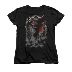 Superman Womans T-Shirt - Above The Clouds