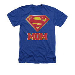 Image for Superman Heather T-Shirt - Super Mom
