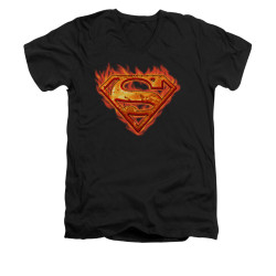 Image for Superman V Neck T-Shirt - Hot Metal