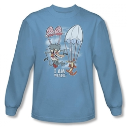 Image for I am Weasel Sky Diving Long Sleeve T-Shirt