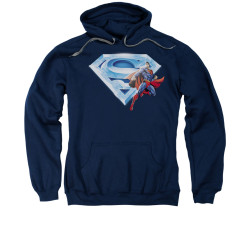 Image for Superman Hoodie - Superman & Crystal Logo