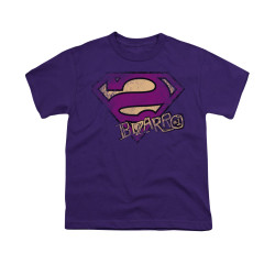 Image for Superman Youth T-Shirt - Bizarro Logo Distressed