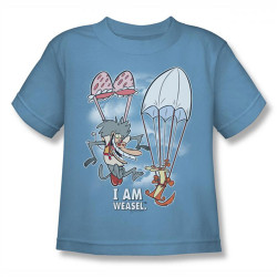 Image for I am Weasel Sky Diving Kids T-Shirt