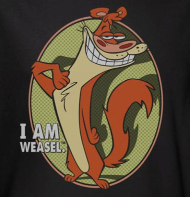 Image for I am Weasel Smug T-Shirt
