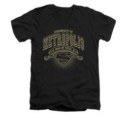 Image for Superman V Neck T-Shirt - University Of Metropolis