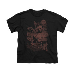 Image for Superman Youth T-Shirt - Somber Power