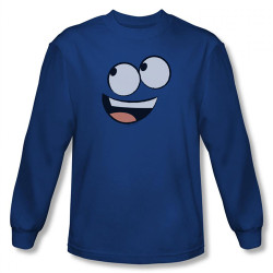 Image for Fosters Home for Imaginary Friends Blue Face Long Sleeve T-Shirt