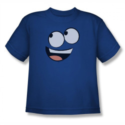 Image for Fosters Home for Imaginary Friends Blue Face Youth T-Shirt