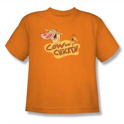 Image for Cow and Chicken Logo Youth T-Shirt