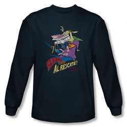 Image for Cow and Chicken Super Cow Long Sleeve T-Shirt