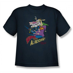 Image for Cow and Chicken Super Cow Youth T-Shirt