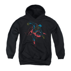 Image for Superman Youth Hoodie - Neon Superman