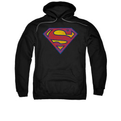 Image for Superman Hoodie - Sm Neon Distress Logo