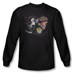 Image for Grim Adventures of Billy and Mandy Splatter Cast Long Sleeve T-Shirt
