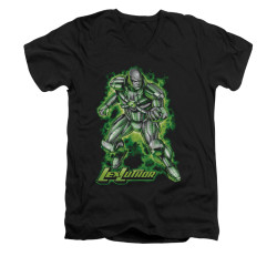 Image for Superman V Neck T-Shirt - Kryptonite Powered