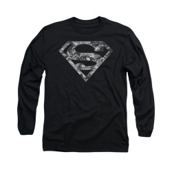 Image for Superman Long Sleeve Shirt - Urban Camo Shield