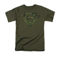 Image for Superman T-Shirt - Marine Camo Shield