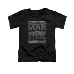Image for Superman Toddler T-Shirt - Steel Text