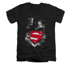 Image for Superman V Neck T-Shirt - Darkest Hour