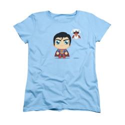Image for Superman Womans T-Shirt - Cute Superman
