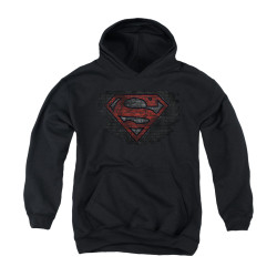 Image for Superman Youth Hoodie - Brick S