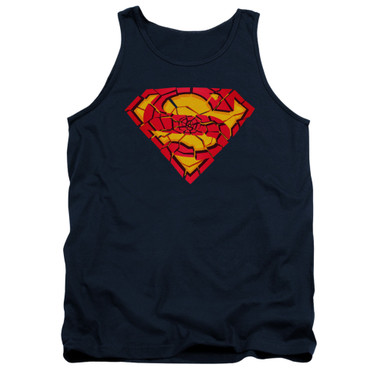 Image for Superman Tank Top - Shattered Shield