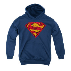 Image for Superman Youth Hoodie - Shattered Shield