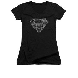 Image for Superman Girls V Neck - Chainmail