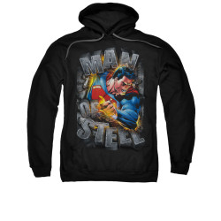 Image for Superman Hoodie - Ripping Steel
