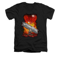 Image for Superman V Neck T-Shirt - Steel Girder