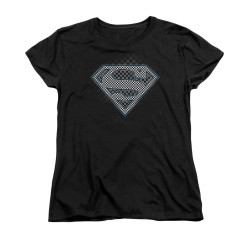 Image for Superman Womans T-Shirt - Checkerboard
