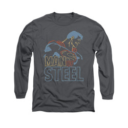 Image for Superman Long Sleeve Shirt - Colored Lines